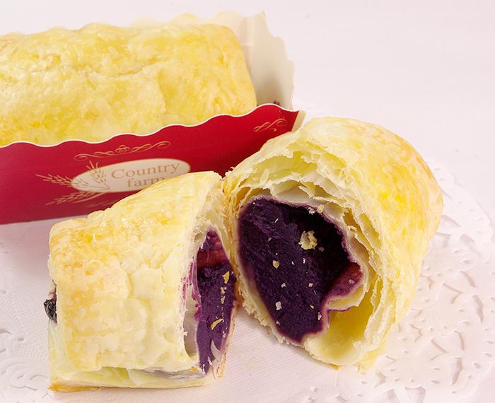紫芋のパイ